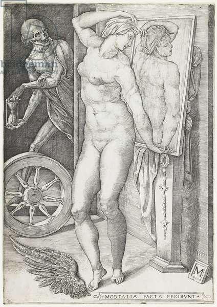 Death Surprising a Woman, c.1490-c.1540 (engraving)