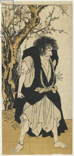 Ichikawa Danju_ro_ V as the Monk Wantetsu, 1778