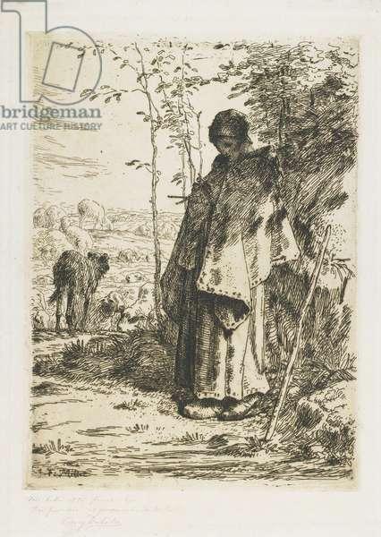 The Shepherdess Knitting, 1862