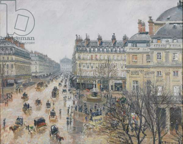Place du Théâtre Français, Paris: Rain, 1898 (oil on canvas)