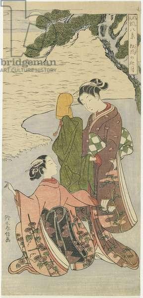 """""""Autumn Moonlight of Matsukaze"""", c. 1767"""