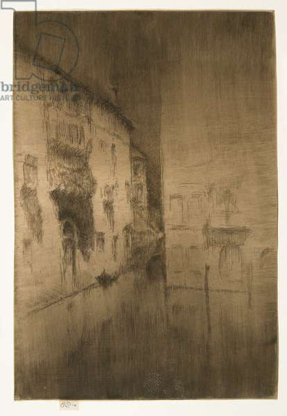 """Nocturne: Palaces from """"The Second Venice Set"""", 1879-1880"""