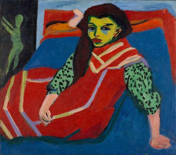 Seated Girl (Fränzi Fehrmann), 1910 (oil on canvas)