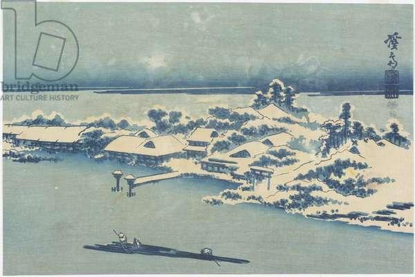 Island Village in Snow, c. 1824-1848