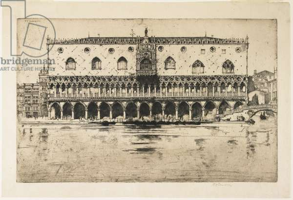 """Palace of the Doges, Venice, plate from """"The North Italian Set"""", 1902"""