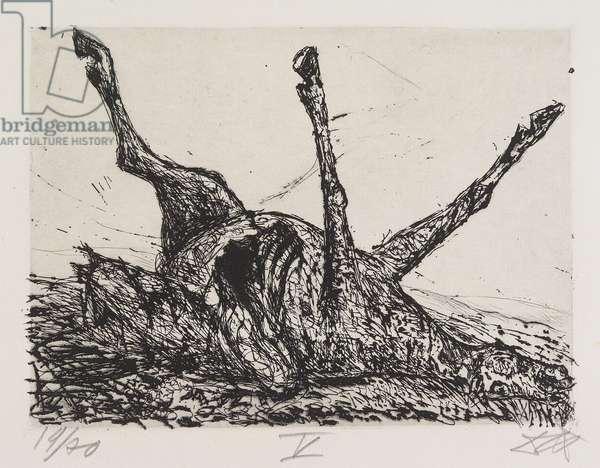 Pferdekadaver (Horse Cadaver), plate 5 from Der Krieg (The War), 1924