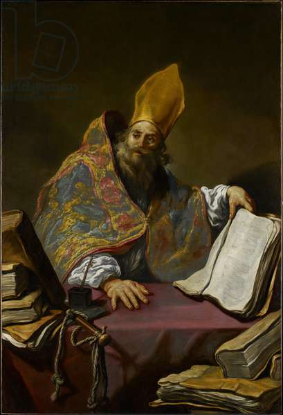 St. Ambrose, c.1623-25 (oil on canvas)