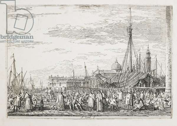 The Market on the Molo, 1740-1745