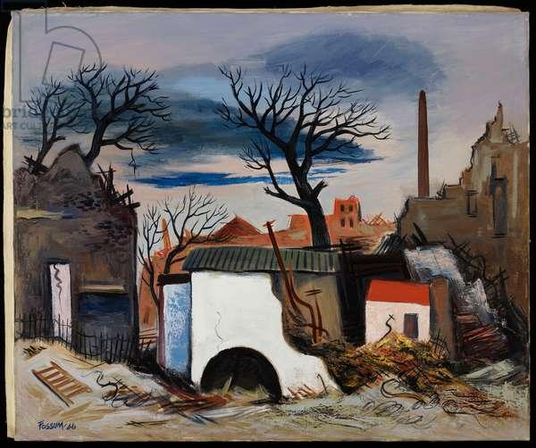 German Ruins, 1946 (oil on canvas)