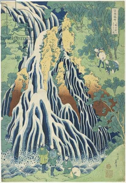 """Kirifuri Falls near Mount Kurokami in Shimotsuke Province"", c. 1833"