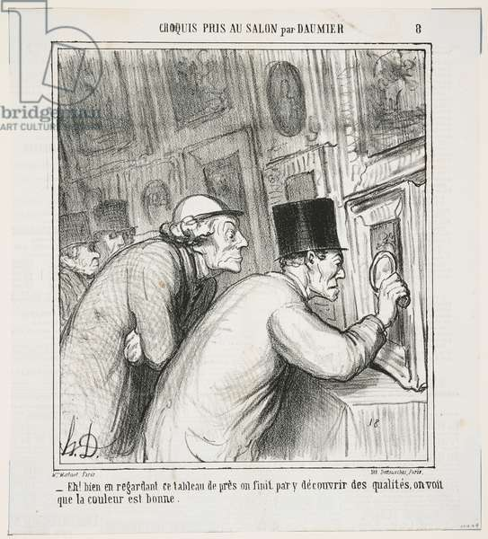 'Well, if you look very closely, you might end up finding some quality! The colour seems to be good', 1865 (litho)