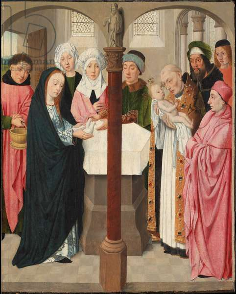The Presentation in the Temple, c.1490-1500 (oil & tempera on panel)
