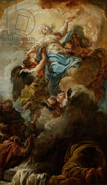 Study for the Assumption of the Virgin, c.1760 (oil on paper)