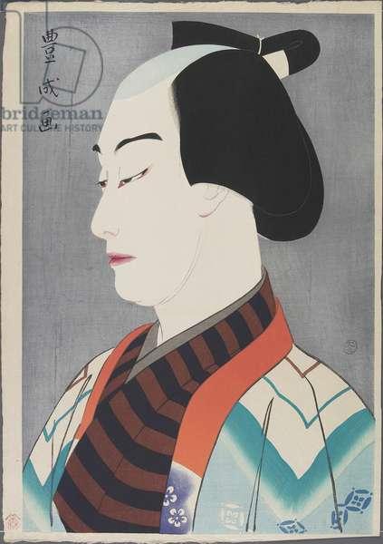 Actor Nakamura Ganjirō I as Akaneya Hanshichi, 1920 (colour woodblock print)