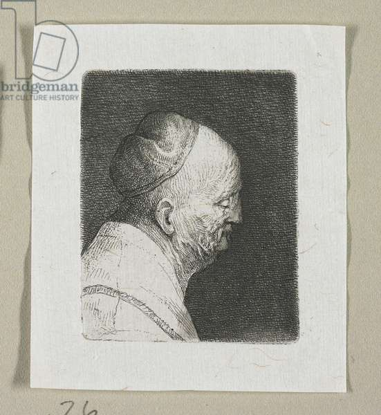 Head of an Old Man in Profile Facing Right, 1774-1789