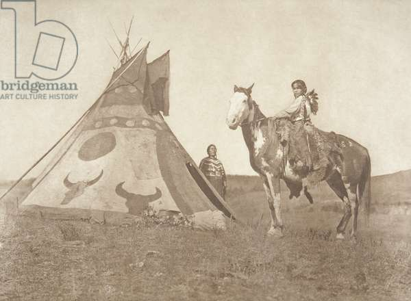 A Painted Tipi - Assiniboin, 1926 (photogravure)