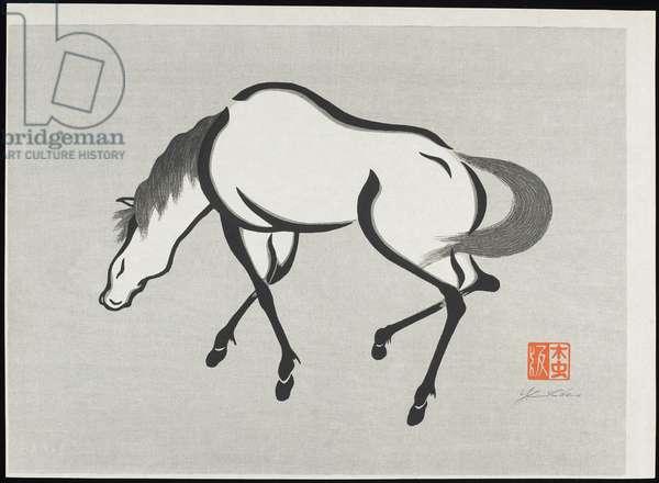 Horse (B), 1960 (woodblock print)