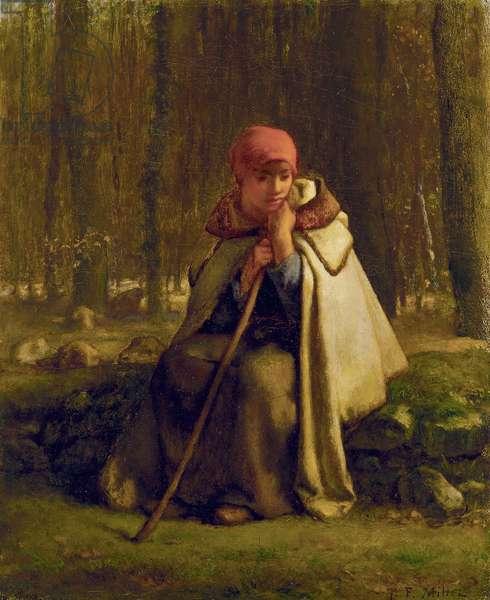 Seated Shepherdess, c.1852 (oil on canvas)