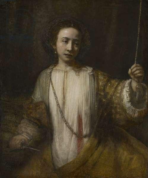 Lucretia, 1666 (oil on canvas)