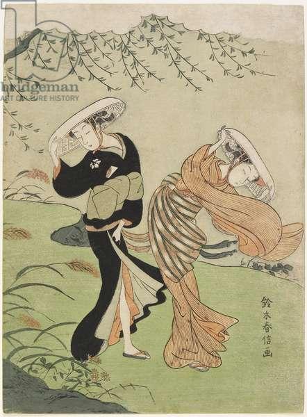 Two Women in High Wind, c. 1767