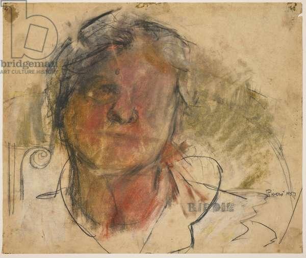 Berdie, 1953 (pastel, charcoal & graphite on paper)