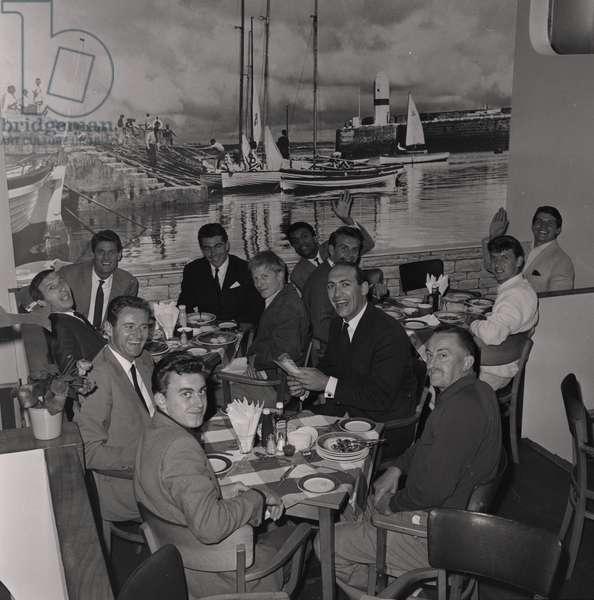 Cabin Café 'All Stars' Team, August 1962 (b/w photo)