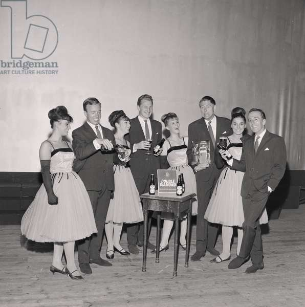 Stars of the Palace Show, August 1965 (b/w photo)