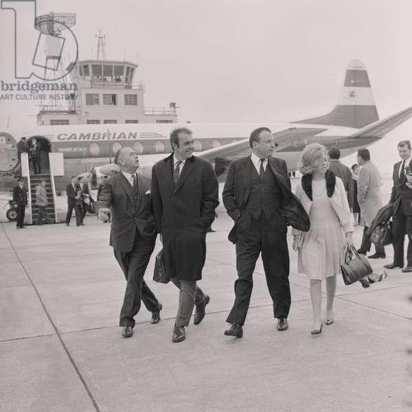 Sean Connery at Ronaldsway Airport, May 1966 (b/w photo)