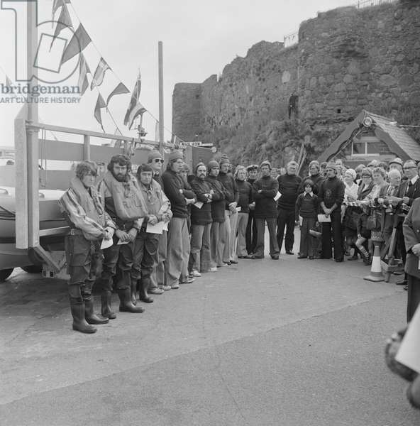 Peel Lifeboat 150th Anniversary, July 1978 (b/w photo)