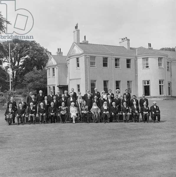 Tynwald Day Royal visit, July 1979 (b/w photo)