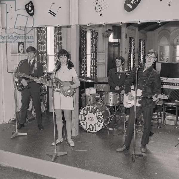 Douglas Head band, Castle Mona, May 1967 (b/w photo)