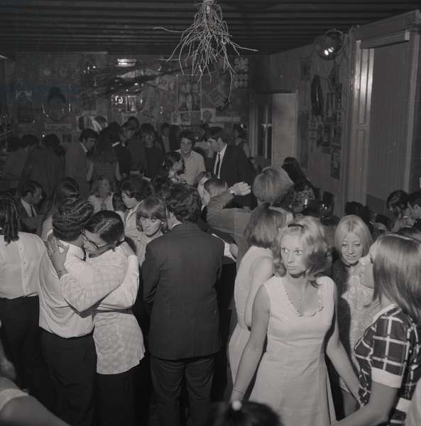 Discotheque at Laxey, August 1969 (b/w photo)