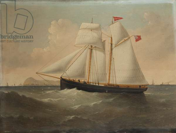 The Schooner 'Snaefell', 1879 (oil on canvas)