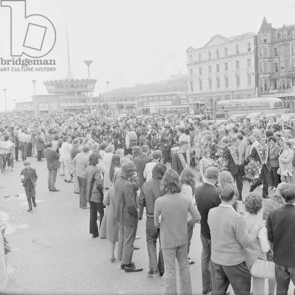 Orange Day Parade, July 1972 (b/w photo)
