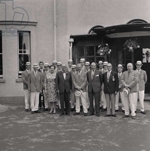 Empire Games Team, Government House, July 1966 (b/w photo)