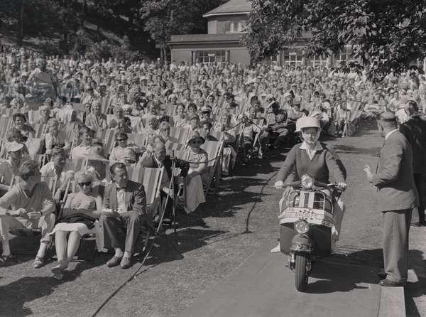 Scooter finals at the Villa Marina, July 1961 (b/w photo)