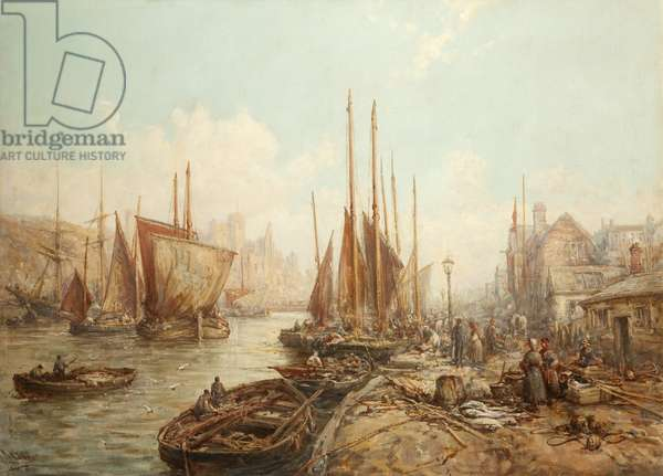 Peel Harbour, 1896 (oil on canvas)