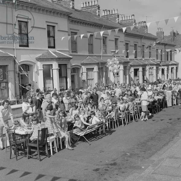 Queen's Silver Jubilee celebrations, May 1977 (b/w photo)
