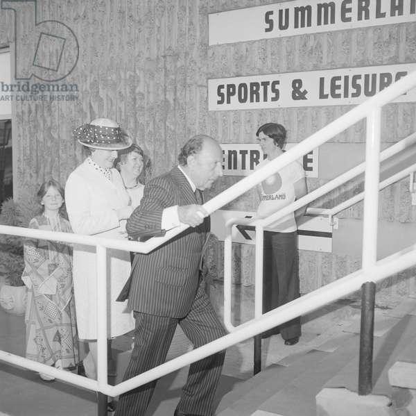 Opening Summerland, June 1978 (b/w photo)