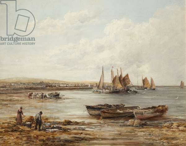 Port St Mary (oil on canvas)
