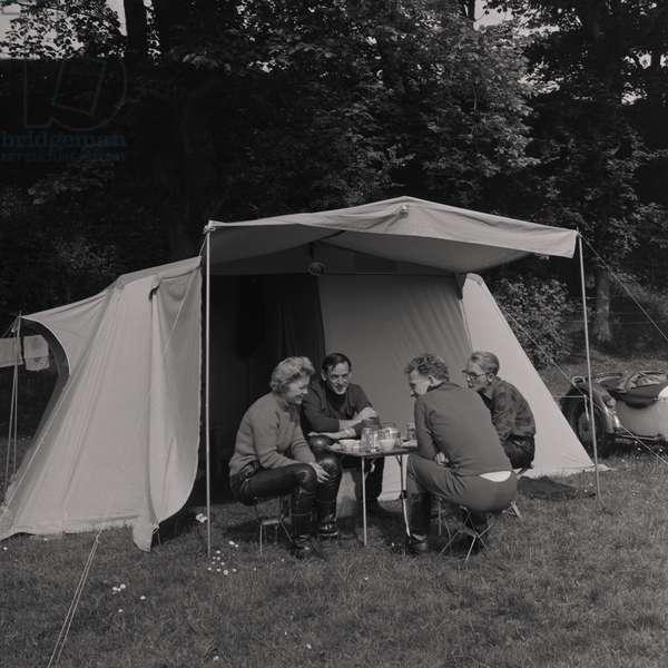 Camping, June 1968 (b/w photo)