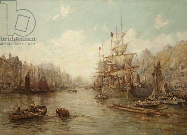 Douglas Harbour, 1896 (oil on canvas)
