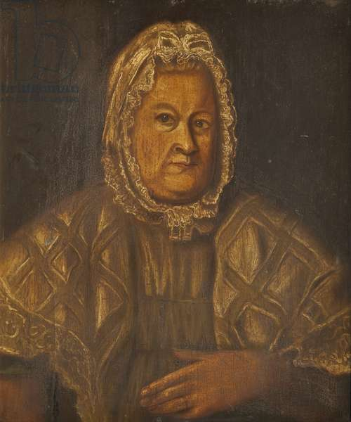 Portrait of a Manx Countrywoman (oil on board)