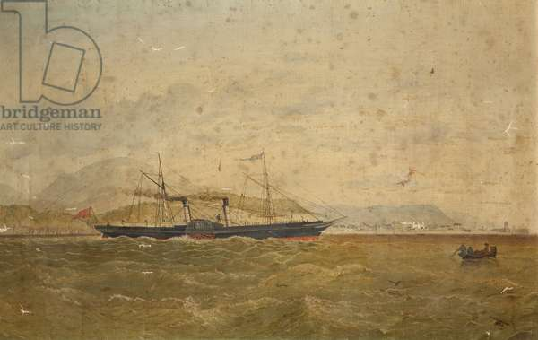 The 'Manx Fairy' in Ramsey Bay, 1874 (oil on canvas)