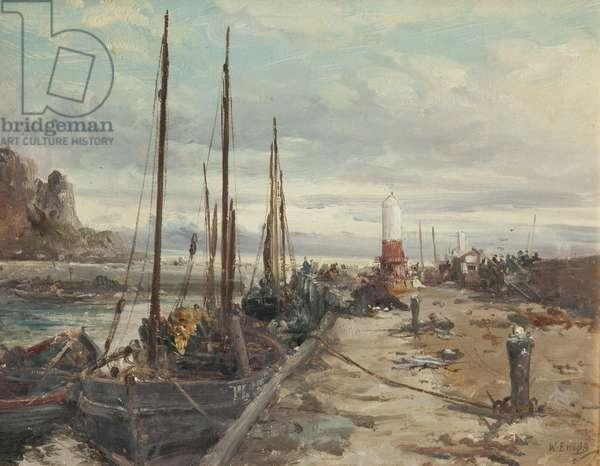 Peel Pier (oil on canvas)
