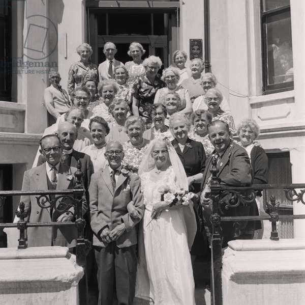 Old age pensioners, Tynwald Street, July 1960 (b/w photo)