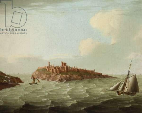 Peel Castle (oil on canvas)
