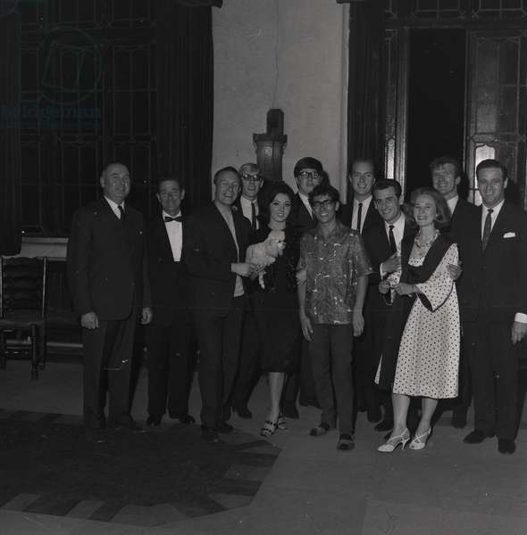 Freddie and the Dreamers and Susan Maughan at the Crescent Cinema, July 1964 (b/w photo)