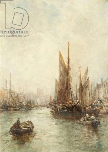 Peel Harbour (oil on canvas)