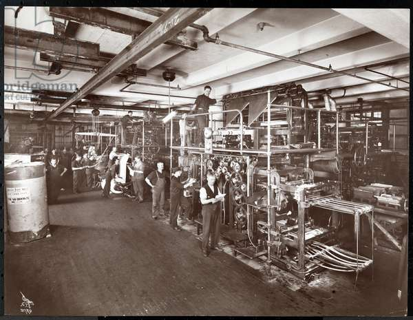 A press room at the McCall Publishing Co., New York, 1913 (silver gelatin print)